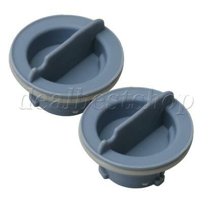 2x Gray Rinse Aid Caps for Dishwasher Compatible Model 7DU1100XTSQ0