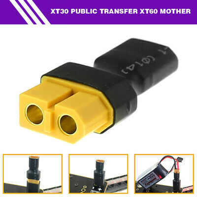 XT30 Male to XT60 Female Connector Adapter Wireless for RC Car Boat Lipo Battery