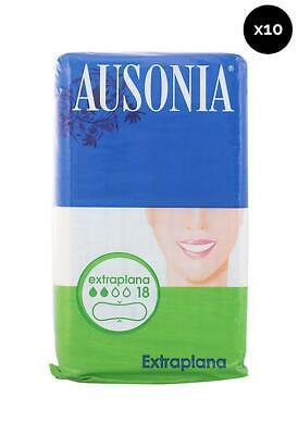 Ausonia Compresas extraplana normal - Pack de 10 x 18 ud Total: 180 ud