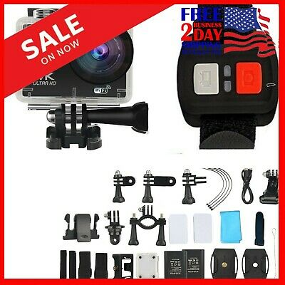Pro Action Camera 4K WiFi-Camcorder Waterproof DV Sports Cam Go Underwater KIT
