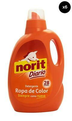 Norit Detergente Gel Color - Pack de 6 x 31 dosis Total: 186 dosis