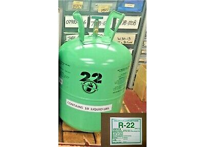 Refrigerant r-22, r22 Disposable Cylinder, 10 lb, Virgin R22, Free Ship, Sticker