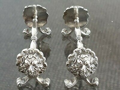 Very Rare Solid Silver Victorian Mythical Beasts Cutlery Rests 1861 London Adams