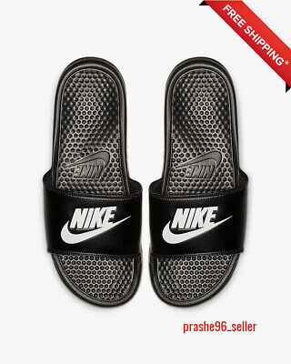 Nike Benassi JDI Men's Slide Black/Black Slipper 343880 001 Free Shipping