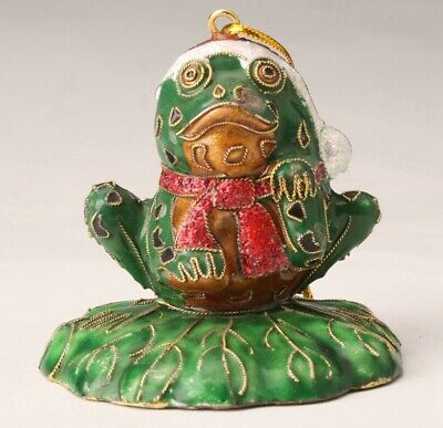 Precious Chinese Cloisonne Statue Pendant Frog Model Old Decorative Collectio