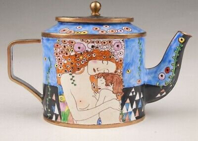 Antique Cloisonne Teapots Hand-Painted With Only One Home Decor Collection