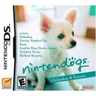 Nintendogs Chihuahua & Friends For Nintendo DS DSi 3DS 2DS Game Only 2E