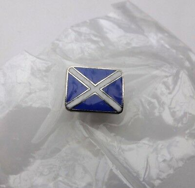 SCOTLAND NATIONAL FLAG SALTIRE St ANDREWS CROSS ENAMEL PIN & PAD LAPEL BADGE