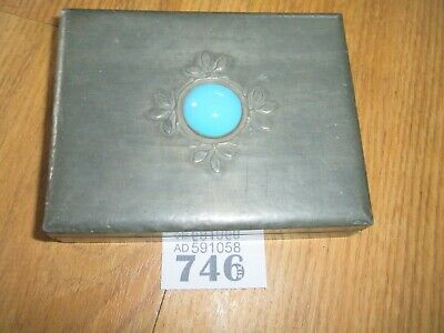 Antique Pewter Clad Wooden Box