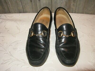 309addcb7 Gucci black vintage horsebit shoes loafers mens size 9.5 D # 110-0009-2