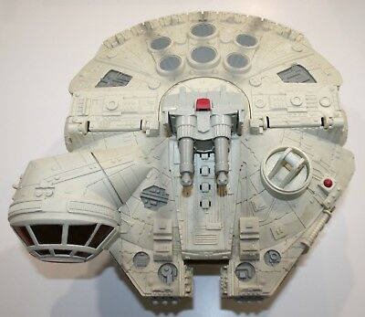 Complete 2001 Star Wars MILLENIUM FALCON BY HASBRO Sounds Work!! EUC