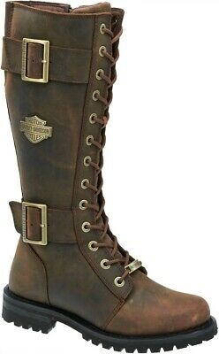 4a32516204e HARLEY-DAVIDSON® WOMEN'S BELHAVEN Brown Tall Leather Motorcycle ...