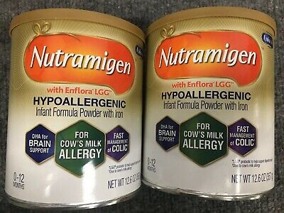 2 cans 12.6 oz Nutramigen Infant Powder Formula FREE Fast PRIORITY Shipping AIYX