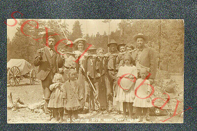 TERREBONNE OREGON FISHING TRIP   - circa 1915 rppc Photo GRADE 2 Trim
