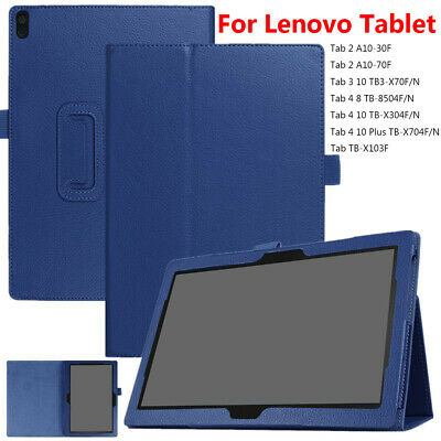 """Leather Case Tablet Cover For Lenovo Tab 2 3 4 8.0"""" 10.1"""" TB-X304F/N TB3-X70F/N"""