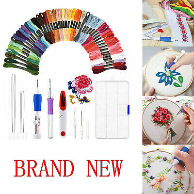 5,50 Magic Embroidery Pen Punch Needle Set Knitting Sewing Tool DIY Crafts