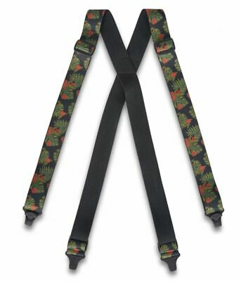 "Dakine HOLD'EM Mens 1 1/2"" Width Elastic Strap Suspenders Jungle Palm NEW Sample"