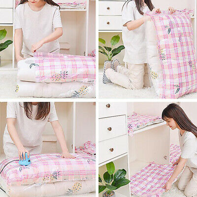 Roll Up Compression Vacuum Storage Bags Travel Home Luggage Space Saver Bags LC