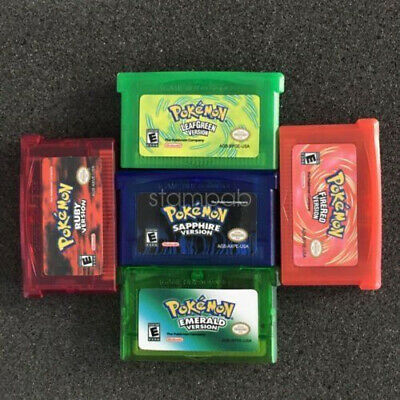 5x Pokemon GBA SP NDS FIRE RED/RUBY/LEAF GREEN/SAPPHIRE/EMERALD Gameboy Advance