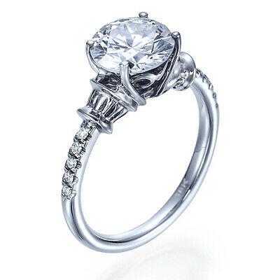 Band 1 3/4 CT D SI2 Diamond Engagement Ring Size 5.25
