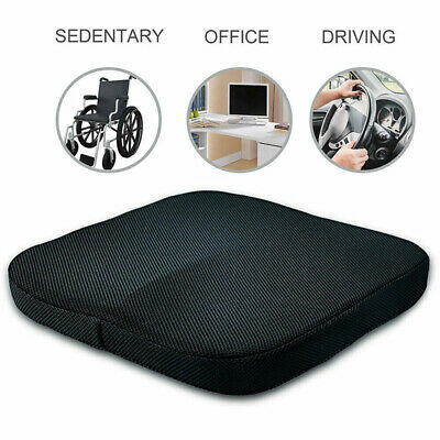 Memory Foam Cushion Pads Coccyx Orthopedic Pain Chair Relief Office Car Seat UK
