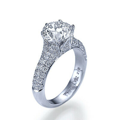 Hand Made 1 3/4 Carat Engagement Ring D VS1 Diamond Size 4.5