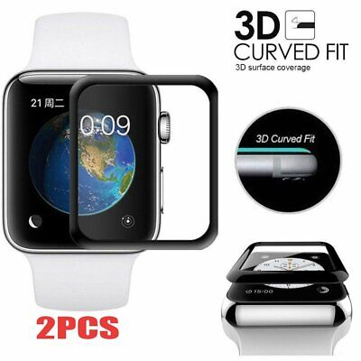 2X 3D Tempered Glass Screen Protector Film For Apple Sport Watch iWatch 42 mm