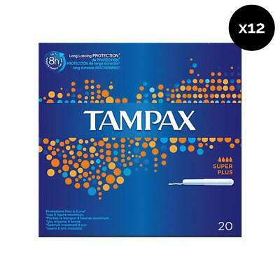 Tampax Tampones Superplus - Pack de 12 x 20 ud Total: 240 ud