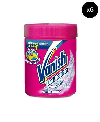 Vanish Quita manchas Oxi Action Rosa - Pack de 6 x 500 gr Total: 3000 gr