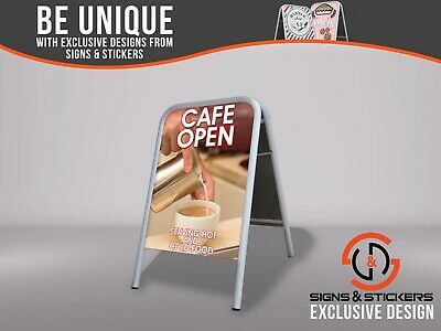 Large A Board Pavement Sign 'Cafe Open' Outdoor Advertising Display