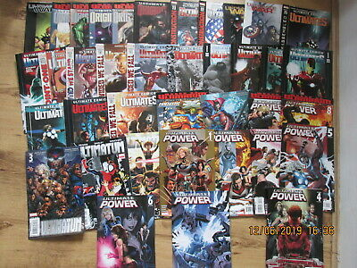 Large Collection Lot Of Marvel Ultimte Power Avengers  Comics