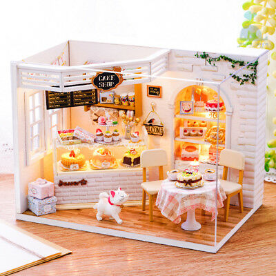 DIY Handcraft Miniature Furniture Wooden My Little Bakery Cake diary Doll House