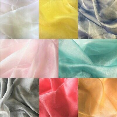 Sparkling Crystal Organza Fabric Voile Decor Wedding EXTRA Double Width 300cm