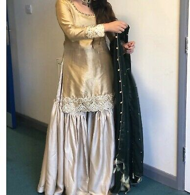 124d3082bd MEHNDI BRIDAL WEDDING Gharara Outfit Asian Suit Khaadi - £60.00 ...