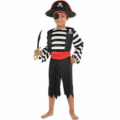 Rascal Pirate Costume for Toddler Boys, Includes a Jumpsuit and More
