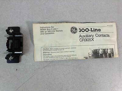 NEW AUXILIARY CONTACT KIT CR305X100E GENERAL ELECTRIC