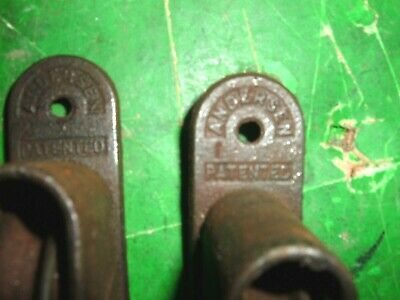 Lot Of 4 Antique Anderson Window Weights Rollers Sash Rope Pulleys Cast Iron