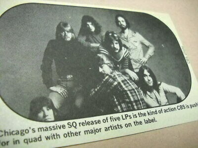 CHICAGO the band is pushing for Quad origial 1975 music biz promo pic with text