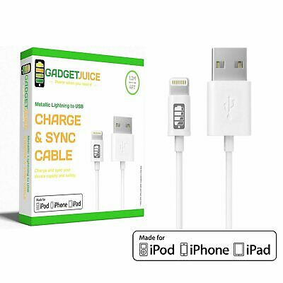Gadget Juice [Apple MFi Certified] Lightning to USB Cable ULTRA Series Charger