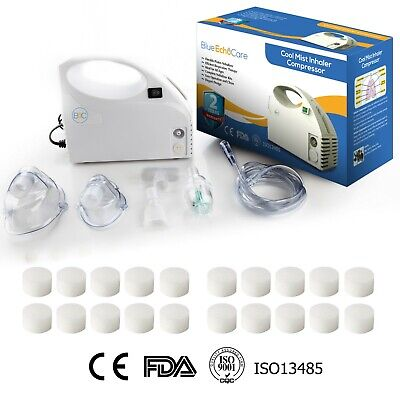 Portable Nebulizer Machine with 20 Filters, Travel Bag, Adult and Child Mask