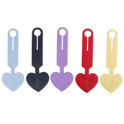 Luggage Tag Travel Suitcase Bag Id Tags Address Label Baggage Card Holder Heart