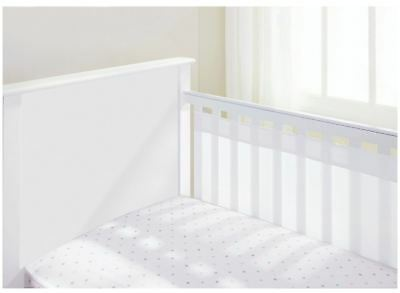 Breathable Baby BREATHABLE BABY AIRFLOW 2 SIDED COT LINER - WHITE Baby BN
