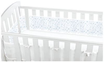 Breathable Baby MESH CRIB LINER 4 SIDED - TWINKLE STAR BLUE Baby Child BN