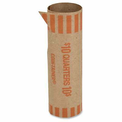 Coin-Tainer Tubular Coin Wrappers - Orange (1000/Box)
