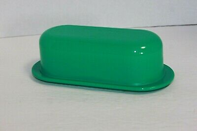 Green Tupperware Covered Butter Dish 5080A 5079