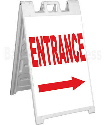 ENTRANCE - Double Sided Sign A-Frame Sidewalk Pavement Signicade Sign