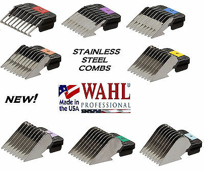 WAHL STAINLESS STEEL Metal Blade GUIDE COMB Fit Oster A5 A6,Many Andis Clippers
