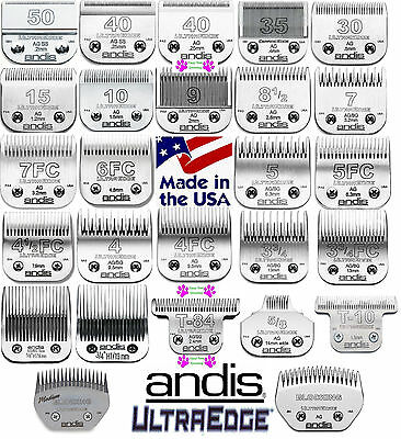 ANDIS Ultra Edge ANIMAL Grooming BLADES Fit Oster A5,A6,Many Wahl,Laube Clipper
