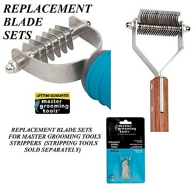 REPLACEMENT BLADE SET For MASTER GROOMING PET STRIPPING STRIPPER TOOLS ALL SIZES
