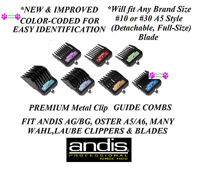 ANDIS PREMIUM METAL CLIP On Guide ATTACHMENT BLADE COMB Fit Oster A5,A6 Clipper